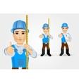construction engineer worker builder vector image vector image