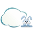 cute cartoon bunny with frame vector image vector image