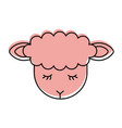 cute lamb character icon vector image
