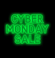 cyber monday sale promotion banner vector image
