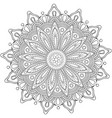 decorative flower round ornament vector image
