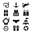Diving Icon Set vector image