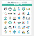 education and e-learning round flat icons vector image vector image