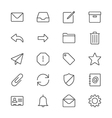 Email thin icons vector image vector image