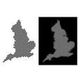 england map hexagonal mosaic vector image vector image