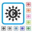 euro payments framed icon vector image vector image