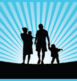 family hapy with children walking in nature vector image vector image