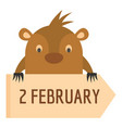 february icon flat style vector image vector image