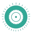 gear wheel isolated icon design vector image vector image