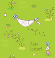 Green Easter background vector image vector image