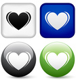 heart buttons vector image