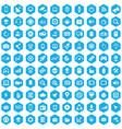 hi-tech 100 icons universal set for web and ui vector image vector image