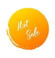 hot sale handwritten word with color circle brush vector image vector image