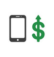 icon concept of smartphone with dollar money vector image
