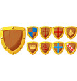 knight shields set vector image vector image