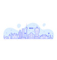 macau skyline china city buildings linear vector image vector image