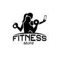 man and woman of fitness silhouette character make vector image vector image