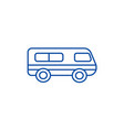 microbusminibus line icon concept microbus vector image