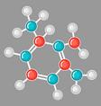 molecular structure design research concept vector image