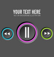 music web design concept vector image