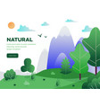 natural lanscape background vector image vector image