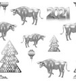 pattern 2021 numbers and new year traditional vector image vector image