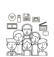 people and multimedia design vector image vector image