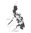 philippines map labelled black vector image vector image