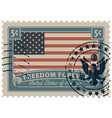 postage stamp with image american flag vector image vector image