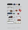 poster furniture sale vector image