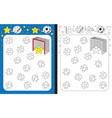 preschool worksheet vector image