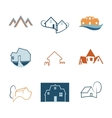 Real Estate web icons set House logos vector image vector image