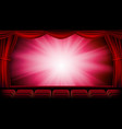 red theater curtain red background vector image vector image