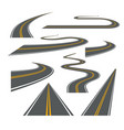 road way winding journey highway vector image vector image