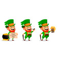 saint patrick day cartoon character leprechaun vector image