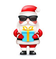 secret santa claus gift box present cute 3d vector image vector image