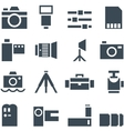Set icons photo accessories vector image vector image