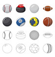 sport and ball icon set of vector image vector image