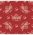 Sport pattern Cricket retro background Seamless vector image vector image
