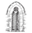 two-light lancet tallest window at the centre vector image vector image