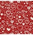 Valentine hand drawn pattern vector image