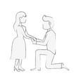 wedding proposal cartoon vector image vector image