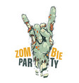 zombie hand on white vector image vector image