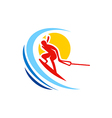 water sport ski abstract logo vector image