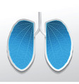 lungs abstract in blue color vector image