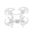 3d quadcopter model on a white vector image vector image