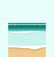 abstract flowing sea blue wave minimal simple vector image