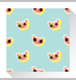 Animal seamless pattern collection with piggy 7 vector image
