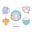 banking concept icon vector image vector image