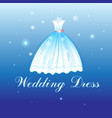 beautiful wedding dress vector image